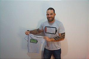 Camiseta Bateria Carregada - INFANTIL