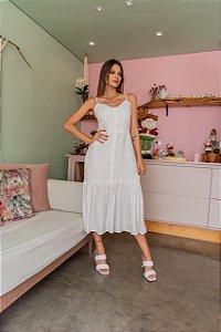 Vestido branco jacquard