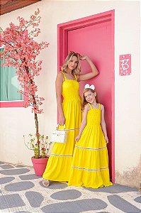Vestido Amarelo longo - ADULTO