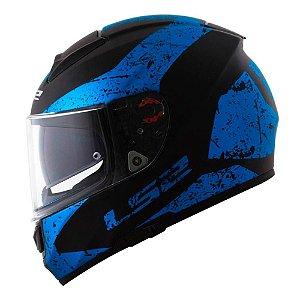 Capacete LS2 FF397 Vector Sign Azul Metallic