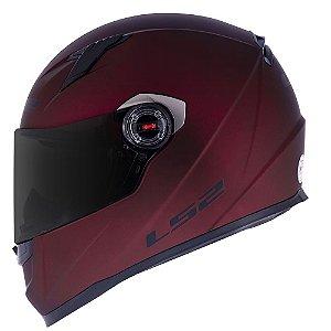 Capacete LS2 FF358 Classic Monocolor Vermelho