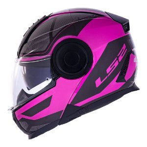 Capacete LS2 FF902 Scope Mask Preto/Rosa