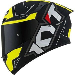 Capacete KYT TT Course Electron Preto/Amarelo