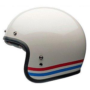 Capacete Bell Custom 500 Stripes Pearl Branco