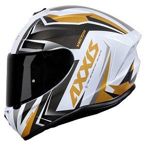 Capacete Axxis Draken Vector Branco/Dourado