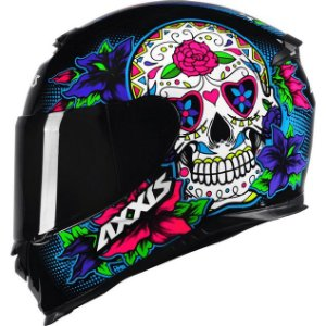 Capacete Axxis Eagle Skull Azul