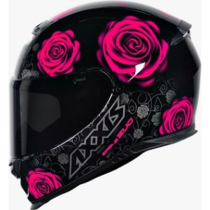 Capacete Axxis Eagle New Flowers Rosa