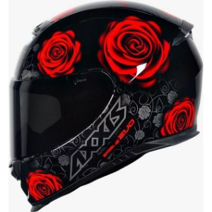 Capacete Axxis Eagle New Flowers Vermelho