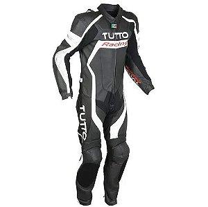 Macacão Tutto Racing Preto/Branco/Prata (1 peça)