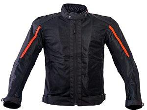 Jaqueta Forza City Rider Summer Preto/Vermelho Waterproof (Forro)