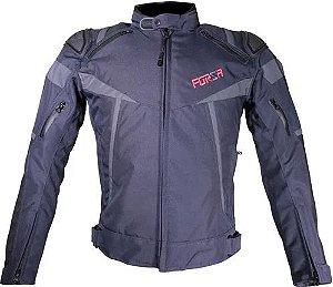 Jaqueta Forza Textile Mugello Racing Azul Escuro