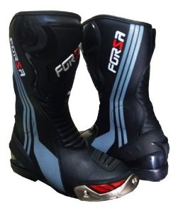 Bota Forza Long Rider Preto/Cinza