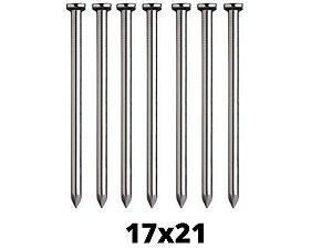 Prego de Aço 17x21 Com Cabeça - 10 Unidades