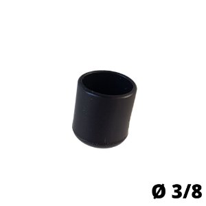Ponteira PVC Preta 3/8'' - 4 Unidades