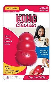 Kong Classic Pequeno - Brinquedo Recheável Para Cachorro