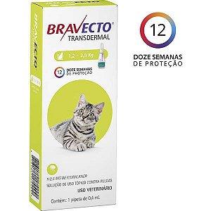 BRAVECTO TRANSDERMAL GATOS 112,5MG(1,2-2,8KG)
