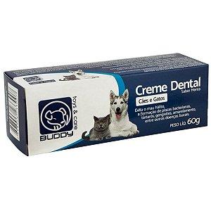 creme dental buddy para cães e gatos 60g