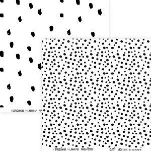 Papel Pontos (Coleção Basiquinha - Linha P&B) - Pacote com 15 unidades
