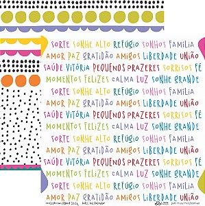 Papel Mil Palavras (Coleção Basiquinha Colors) - Pacote com 15 Unidades