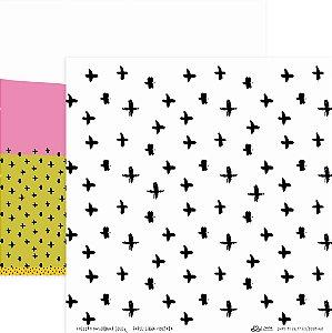 Papel Linha Cruzada (Coleção Basiquinha Colors) - Pacote com 15 unidades