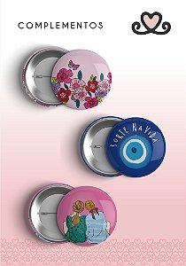 Bottons Sorte na Vida ( Coleção Todos os Sonhos do Mundo) - pacote com 3 cartelas