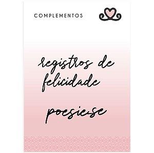 Títulos Acrílico Registros de Felicidade ( Coleção Todos os Sonhos do Mundo) - pacote com 3 unidades