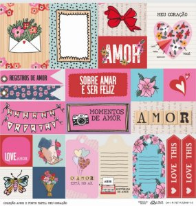 Papel Meu Coração (Coleção Amor e Ponto) - Pacote com 15 Unidades