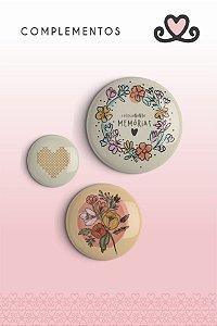 Bottons Colecionando Memórias ( Coleção Vocês, Pra Sempre) - pacote com 3 cartelas