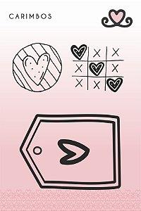 Carimbo Jogo da Velha ( Coleção Vocês, Pra Sempre) - pacote com 3 unidades