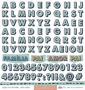 Papel Alfabeto (Coleção Vocês, Pra Sempre) - Pacote com 15 Unidades
