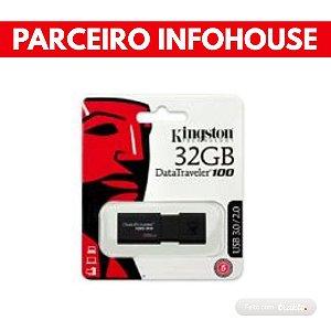 PENDRIVE  DATATRAVELER 100G3 32GB, KINGSTON, PRETO