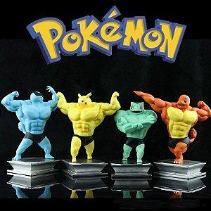 Pokemon Musculoso, Charmander, Pikachu, Bulbassauro, Squirtle