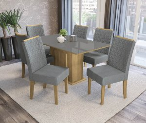 Conjunto de Mesa Acerola 06 Cadeiras A018 - Kappesberg
