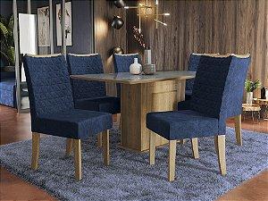 Conjunto de Mesa Acerola 06 Cadeiras D008 - Kappesberg