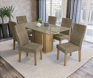 Conjunto de Mesa Acerola 06 Cadeiras D005 - Kappesberg