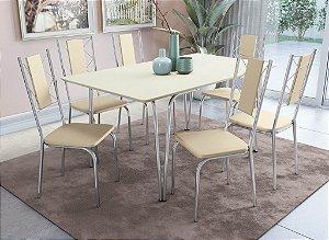 Conjunto de Mesa Amur 06 Cadeiras Lisboa - CR16