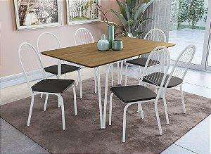 Conjunto de Mesa Amur 06 Cadeiras Noruega - BRF110