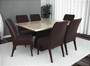 Conjunto de Mesa Barcelona e 06 Cadeiras Munique
