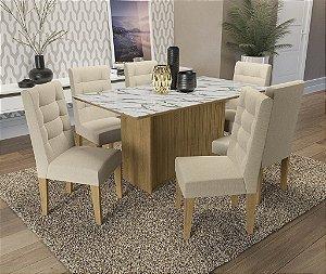 Conjunto de Mesa Cidra 06 Cadeiras A019 - Kappesberg