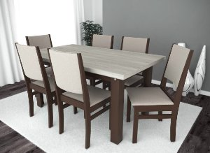 Conjunto de Mesa Classic 06 Cadeiras Itália
