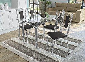 Conjunto de Mesa Elba 04 Cadeiras Florença - CR110