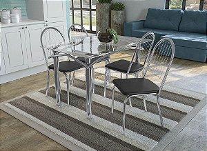 Conjunto de Mesa Elba 04 Cadeiras Noruega - CR110