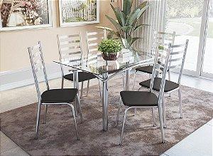 Conjunto de Mesa Elba 06 Cadeiras Alemanha - CR110