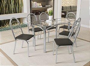 Conjunto de Mesa Elba 06 Cadeiras Holanda - CR21