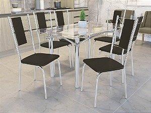 Conjunto de Mesa Elba 06 Cadeiras Lisboa - CR21