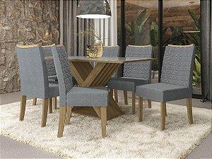 Conjunto de Mesa Graviola 6 Cadeiras A018 - Kappesberg