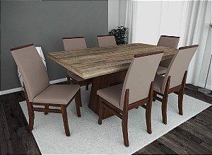 Conjunto de Mesa Grécia 06 Cadeiras Veneza