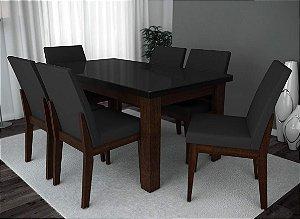 Conjunto de Mesa Life 06 Cadeiras Grécia