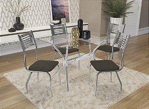 Conjunto de Mesa Loire 04 Cadeiras Munique - CR21