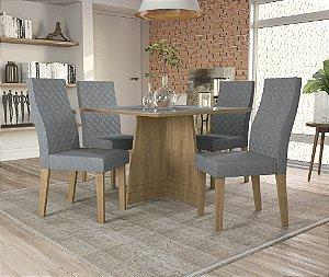 Conjunto de Mesa Lótus 04 Cadeiras